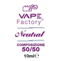 VapeFactory - Base Neutra 50/50 20 mg/ml Nicotina 10ml
