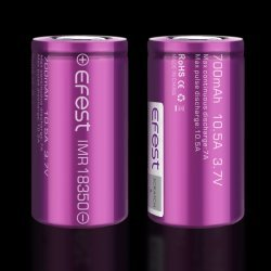 Efest IMR18350 700mah 10.5A with flat top