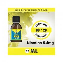 LOP - Base Neutra 8020 Nicotina 5.4mg 100ml TPD