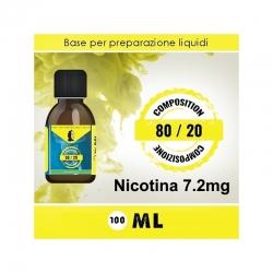 LOP - Base Neutra 8020 Nicotina 7.2mg 100ml TPD