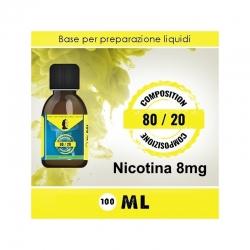LOP - Base Neutra 8020 Nicotina 8mg 100ml TPD