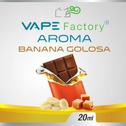 VapeFactory - Aroma Banana Golosa 20ml (Banana, Cioccolato, Caramello)