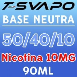 T-Svapo - Kit Base Neutra 50/40/10 Nicotina 10mg 90ml