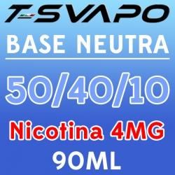 T-Svapo - Kit Base Neutra 50/40/10 Nicotina 4mg 90ml