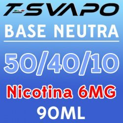 T-Svapo - Kit Base Neutra 50/40/10 Nicotina 6mg 90ml