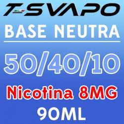 T-Svapo - Kit Base Neutra 50/40/10 Nicotina 8mg 90ml