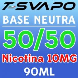 T-Svapo - Kit Base Neutra 50/50 Nicotina 10mg 90ml