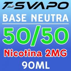 T-Svapo - Kit Base Neutra 50/50 Nicotina 2mg 90ml
