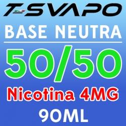 T-Svapo - Kit Base Neutra 50/50 Nicotina 4mg 90ml