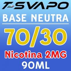 T-Svapo - Kit Base Neutra 70/30 Nicotina 2mg 90ml