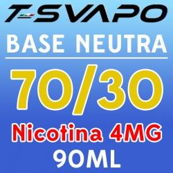 T-Svapo - Kit Base Neutra 70/30 Nicotina 4mg 90ml