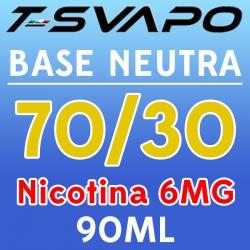 T-Svapo - Kit Base Neutra 70/30 Nicotina 6mg 90ml