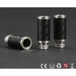 Drip Tip in Fibra di Carbonio ed Acciaio