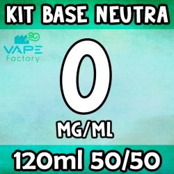 VapeFactory - Kit Base Neutra 120ml 50/50 Senza Nicotina