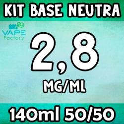 VapeFactory - Kit Base Neutra 140ml 50/50 Nicotina 2.8mg