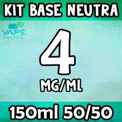 VapeFactory - Kit Base Neutra 150ml 50/50 Nicotina 4mg