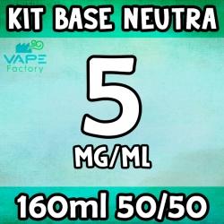 VapeFactory - Kit Base Neutra 160ml 50/50 Nicotina 5mg