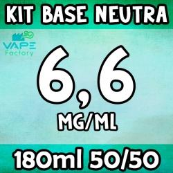 VapeFactory - Kit Base Neutra 180ml 50/50 Nicotina 6.6mg