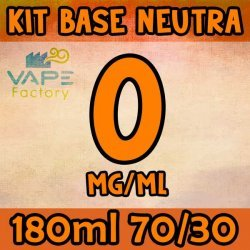 VapeFactory - Kit Base Neutra 180ml 70/30 Senza Nicotina