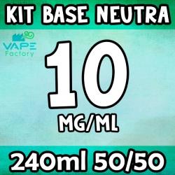 VapeFactory - Kit Base Neutra 240ml 50/50 Nicotina 10mg