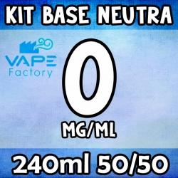 VapeFactory - Kit Base Neutra 240ml 50/50 Senza Nicotina