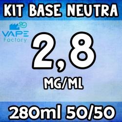 VapeFactory - Kit Base Neutra 280ml 50/50 Nicotina 2.8mg