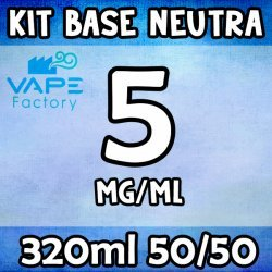 VapeFactory - Kit Base Neutra 320ml 50/50 Nicotina 5mg